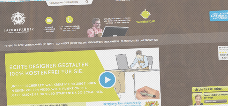 Die Layoutfabrik unterstützt seine Kunden mit dem Click to Chat