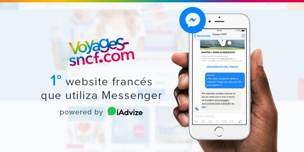 Voyages-sncf.com propone Messenger a sus clientes con la ayuda de iAdvize