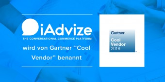 "iAdvize wird von Gartner als ""2016 Cool Vendor in CRM Customer Service and Support"" benannt"