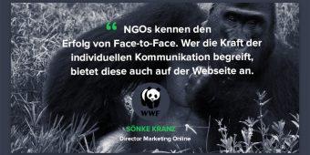Ein Livechat auf der Webseite einer NGO? Der WWF macht es vor!