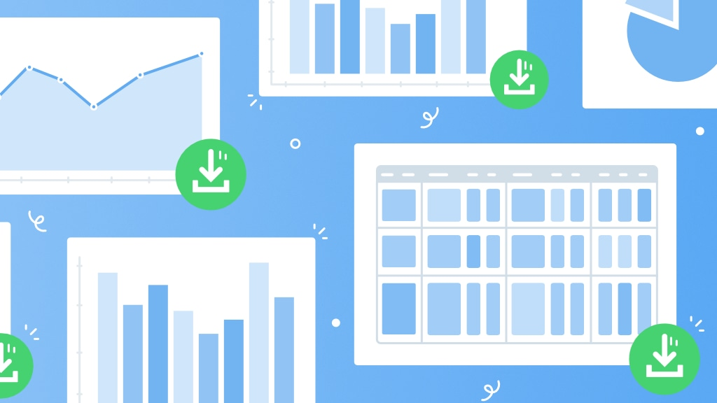 Reports: export chart data in CSV format!
