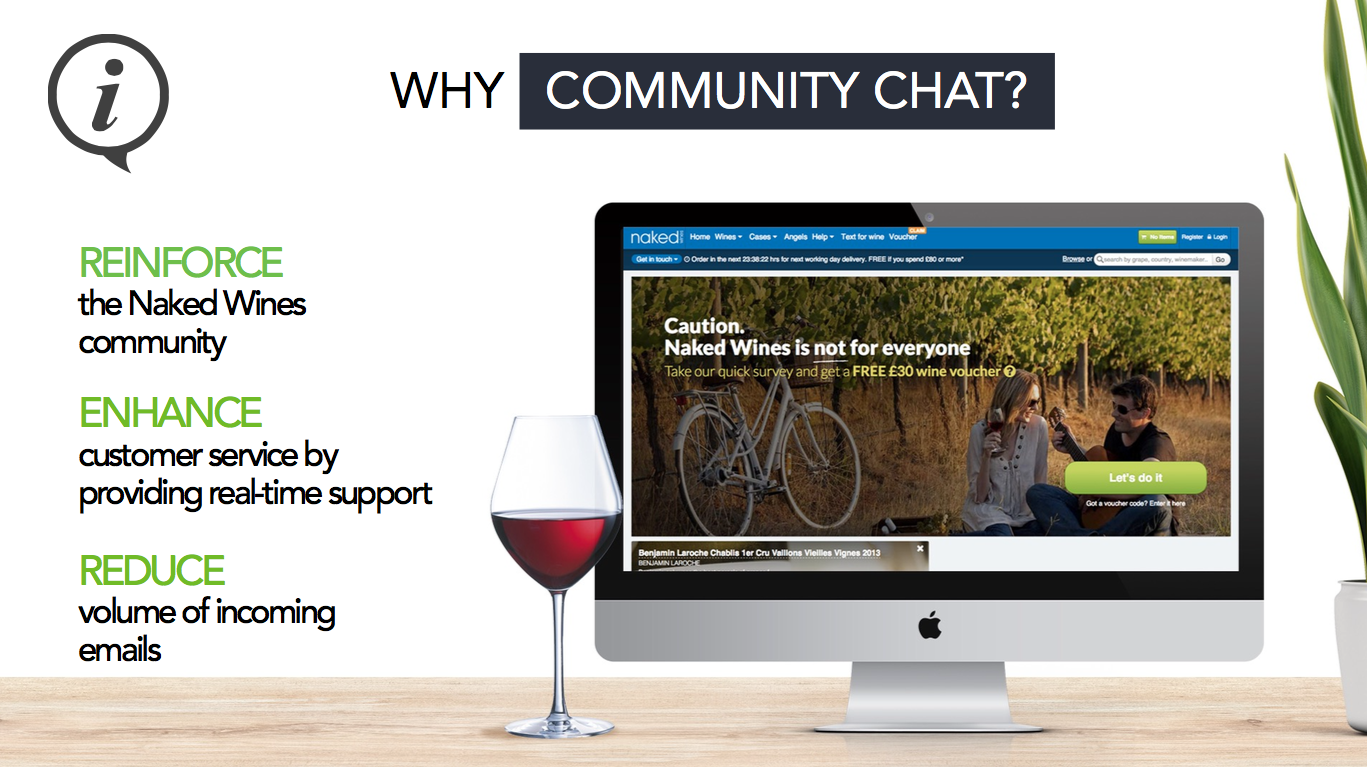 Naked wines goals community chat