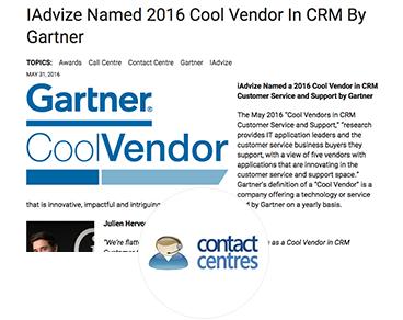 IAdvize Named 2016 Cool Vendor In CRM By Gartner