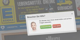 Beratung wie im Supermarkt: Edeka-lebensmittel.de berät Besucher dank Live-Chat auch online in Echtzeit