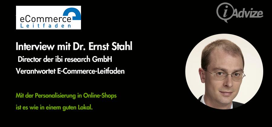 Experteninterview mit Dr. Ernst Stahl des E-Commerce Leitfaden