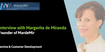 The challenges of online customer service and training customer service teams according to Margerita de Miranda