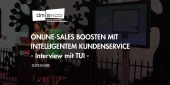 DMEXCO: Zusammenfassung des Vortrags mit TUI