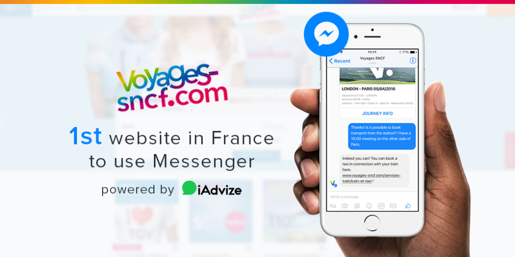 Voyages-sncf.com now provides customers with Messenger support via the iAdvize platform