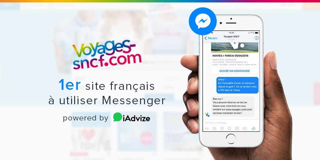 Facebook Messenger : nouvel outil de relation client de Voyages-sncf.com !