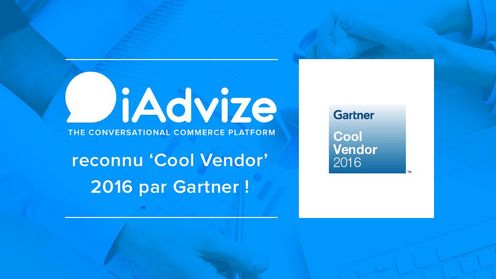 iAdvize reconnu Cool Vendor 2016 par Gartner