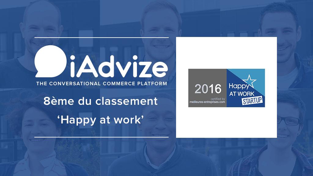 iAdvize lauréat du label HappyAtWork StartUp 2016 !
