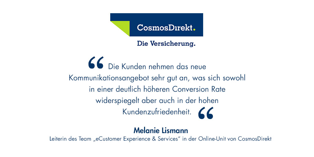 Conversational Commerce bei CosmosDirekt – ein Interview mit Melanie Lismann