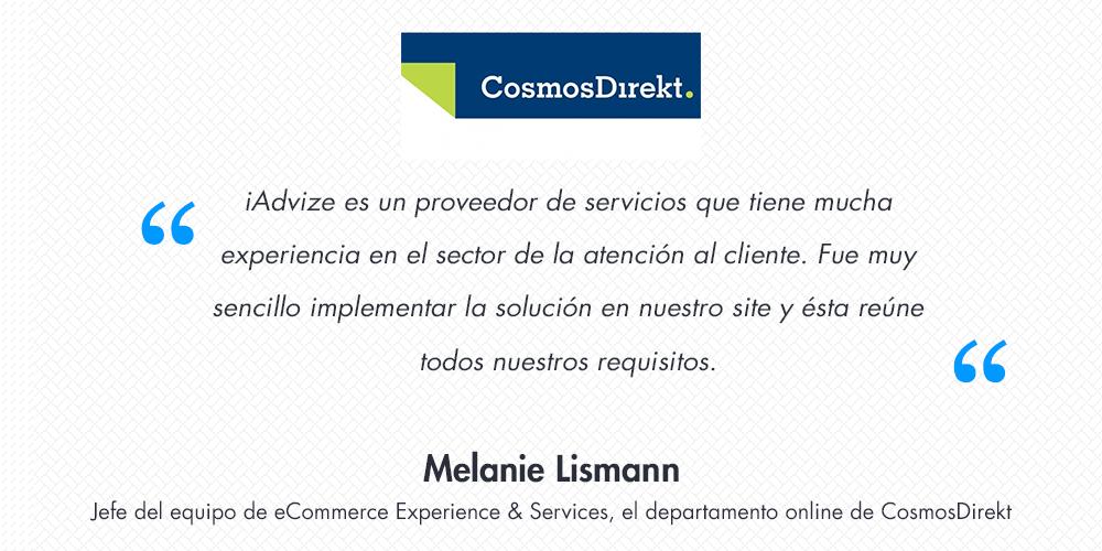 [Entrevista] Melanie Lismann nos habla del comercio conversacional en CosmosDirekt