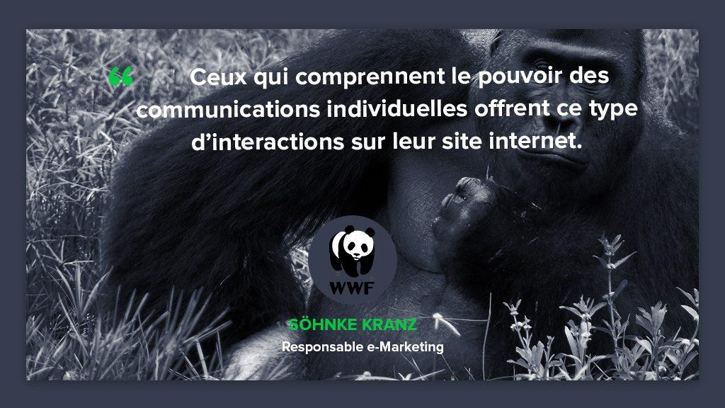Une solution de chat sur le site d'une ONG ? Le WWF Allemagne l'a fait !