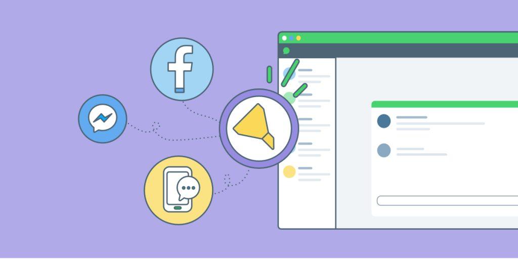 Ciblez et triez vos messages Facebook, Messenger ou SMS dans iAdvize