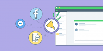 Target the best social and messaging conversations and transfer them to the right agents