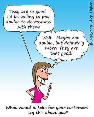 Customer Comic Shep Hyken iAdvize Conversation digital cx