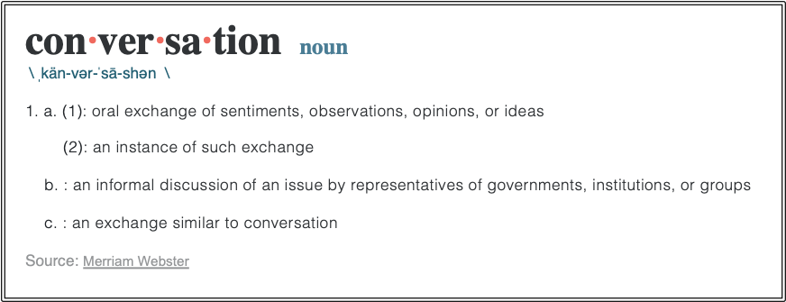 What is conversation definition