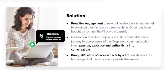 Conversational Tools Mix Nespresso Solution iAdvize